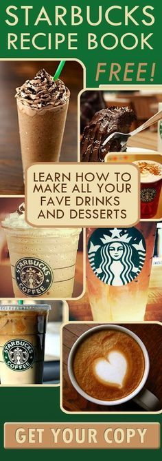The Ultimate STARBUCKS Coffee Recipe Book for FREE Can't wait to have a Starbucks Party! Drinks on Me:) Funfamliving.com