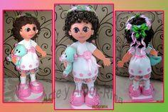 Arte y amor: Fofucha niña con coronita de Campanilla