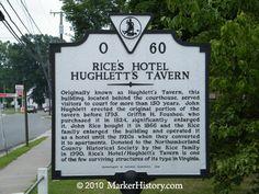 Rice's Hotel - Hughlett's Tavern O-60 | Marker History