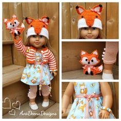 Summer Complete Fox outfit clothes for 18 inch doll - american girl doll | eBay