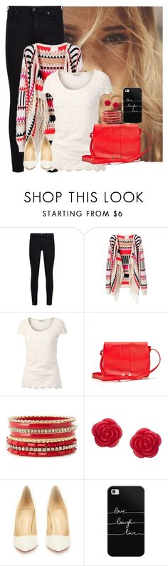 """""""Untitled #913"""" by aubreyspringer ❤ liked on Polyvore featuring 7 For All Mankind, Fat Face, See by Chloé, Charlotte Russe, Cath Kidston, Christian Louboutin and Casetify"""