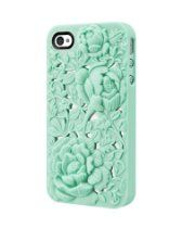 New 3d Sculpture Rose Flower for Iphone4 4s - Green