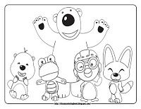 Pororo the Little Penguin coloring pages pororo and friends