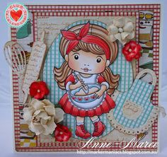 From our Design Team! Card by Anne-Maree Campbell featuring Club La-La Land Crafts December 2015 exclusive Baker Marci, Happiness is Homemade stamp set and these Dies - Rolling Pin and Whisk, Ric Rac Border and Apron :-) Club La-La Land Crafts subscription details are here - http://lalalandcrafts.com/Club_La-La_Land_Crafts.html Coloring details and more Design Team inspiration here - http://lalalandcrafts.blogspot.ie/2015/12/club-la-la-land-crafts-december-2015.html