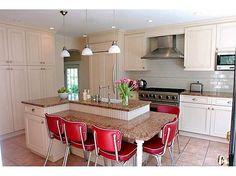 kitchen island table split level - Google Search
