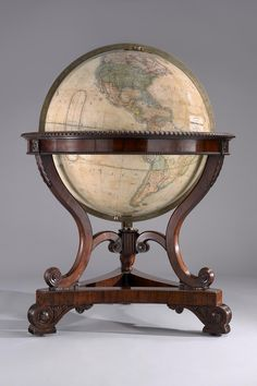 "- A rare and important late nineteenth century 'colossus' globe by Thomas Malby. ""Inspiration for the library"" Vintage Globe, Vintage Maps, Antique Maps, British Colonial Decor, Art Nouveau, World Globes, Map Globe, Old Maps, Instruments"