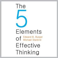 The Five Elements of Effective Thinking Audiobook