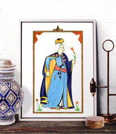 Ottoman Miniature Home Decor Turkish Miniature by HermesArts