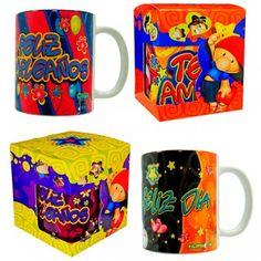 Mugs Pilos * 1 Mugs, Tableware, Macrame, Anime, Gift Baskets, Decorated Boxes, Cute Love Pictures, Dinnerware, Tumblers