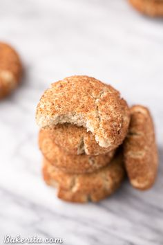 These healthier Snickerdoodles are incredibly soft and flavorful. This gluten-free, Paleo, and vegan recipe comes together so quickly and easily in just twenty minutes, you won't believe it!