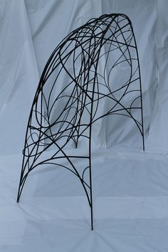 Arbor, painted steel 8'+6' by Kelly Brown/Bower Bird Sculpture