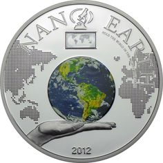 10 DOLLAR SILBER NANO EARTH - THE WORLD IN YOUR HAND PP