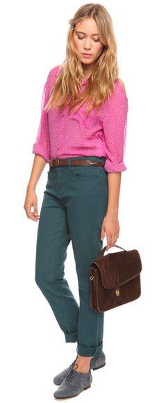 Love non-denim blue pants.