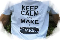 "T-Shirts mit Print - T-Shirt ""Keep calm and make a video"" - ein Designerstück von DaiSign bei DaWanda  http://de.dawanda.com/product/102108619-t-shirt-keep-calm-and-make-a-video  Shirt TShirt Shirtshop Sprücheshirt Video Film DVD Youtube Youtuber Youtubekanal filmen Computer PC KeepCalm Keep Calm stream streamen Teen Teenager Teenie Dner Unge Gronkh Paluten Sturmwaffel DaiSign"