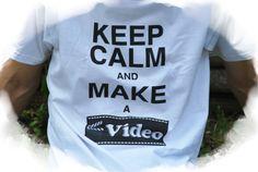 "T-Shirts mit Print - T-Shirt ""Keep calm and make a video"" - ein Designerstück von DaiSign bei DaWanda  http://de.dawanda.com/product/102108619-t-shirt-keep-calm-and-make-a-video  Shirt TShirt Shirtshop Sprücheshirt Video Film DVD Youtube Youtuber Youtubekanal filmen Computer PC KeepCalm Keep Calm stream streamen Teen Teenager Teenie Dner Unge Gronkh Paluten Sturmwaffel DaiSign"