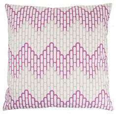 Kimberly Lewis Home Sierra Aubergine Square Pillow | Pure Home
