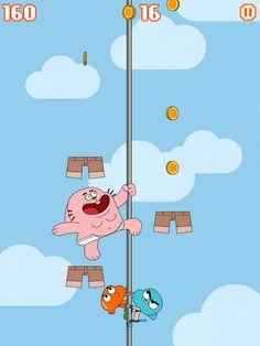 Sky Streaker - Gumball Climbing Arcade Game App. Kids Games, Humorous Apps.