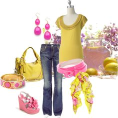 Pink Lemonade by bbricker39 on Polyvore featuring polyvore, fashion, style, MEK, Vera Wang, Miss Gustto, Kate Spade, Swash, Miso and BaubleBar