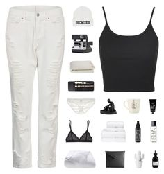 """""""sand in my sweater from nights we don't remember   hey, i'm back!"""" by baesically-addy ❤ liked on Polyvore featuring Topshop, Etiquette, Crate and Barrel, Elite, Only Hearts, Wedgwood, TokyoMilk, Cosabella, Christy and Kat Von D"""