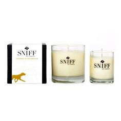 Candles For Canines. These 100-percent green candles from Sniff Pet Candles provide aromatherapy benefits for your pooch, nice smells for you, and a better quality of life for less fortunate dogs across the U.S.—which means everyone smells like roses. $28.00