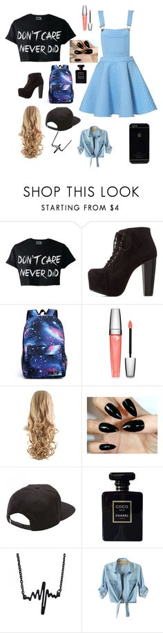 """""""day out with the sidemen"""" by princess-shannan ❤ liked on Polyvore featuring Charlotte Russe, Lancôme, Vans and Chanel"""