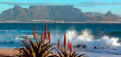 Table Mountain from Blouberg Strand, Cape Town Picture Table, Table Mountain, Cape Town, South Africa, Beautiful Places, The Past, Places To Visit, Waves, Mountains