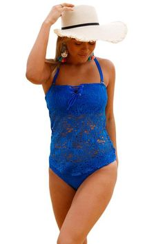 cde236c5ea29f Rock a Boho-chic vibe in this new, grommet-laced, crochet tankini