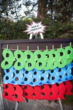 Party details from a PJ Masks Superhero Birthday Party via Kara's Party Ideas | KarasPartyIdeas.com (53)