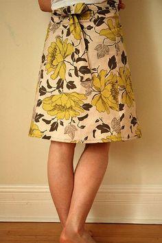 CharlotteCarotte's wraparound skirt, Amy Butler fabric, Sew What! Skirts book.