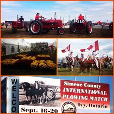 oday is your last chance to check out the International Plowing Match, don't miss out! Kids get in free all day and Jason McCoy performs on the main stage at 2:30! #IPM #internationalplowingmatch #simcoecounty #ivy #visitbarrie #getoutandplay #tractors #horses #liveentertainment tourismbarrie's photo on Instagram