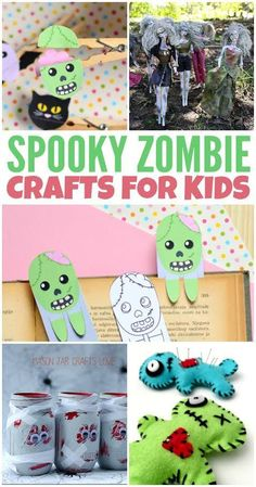 Looking to get your inner zombie on with some fun zombie crafts? Check out these zombie craft ideas for lots of undead fun. Diy Halloween Costumes For Women, Halloween Activities For Kids, Halloween Books, Halloween Kids, Halloween Themes, Halloween Party, Halloween Decorations, Cute Kids Crafts, Crafts For Teens