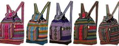 Imported by Poncho, Goderich ON, Sun Coast Mall, St Jacobs ON, Poncho | BACKPACKS