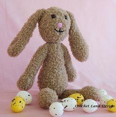 Larry  old fashioned stuffed bunny crochet rabbit stuffed