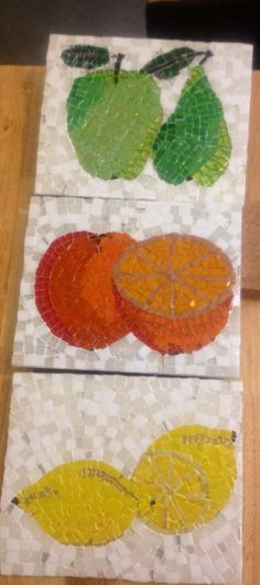 Mosaic fruit wall tiles