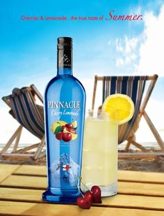 Pinnacle Cherry Lemonade Flavored Vodka is a tangy combination of cherry and lemon flavors that delight the taste buds.  A perfect summer cocktail any way you shake it!