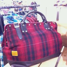 Staple Ford plaid men's bag @ Urban Outfitters