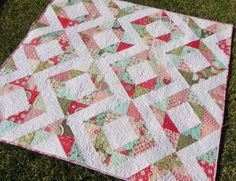 Fresh diamonds  http://quiltinggallery.com/2011/04/29/vote-now-quilts-charms/