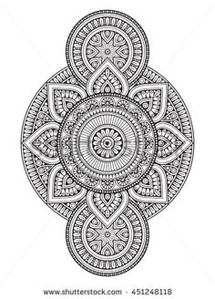 Immagine vettoriale stock 451248142 a tema Flower Mandala Vintage Decorative Elements Oriental (royalty free) Mandala Art Lesson, Mandala Artwork, Mandala Painting, Dot Painting, Doodle Art Drawing, Mandala Drawing, Cool Art Drawings, Mandala Tattoo, Mandala Indiana