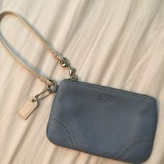 Coach Blue Leather Wristlet blue leather, Coach, inside had like brand new condition Coach Bags Clutches & Wristlets