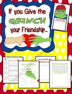 Read aloud and discuss kindness; also read aloud How The Grinch Got So Grinchy