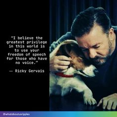 ❤❤❤ #whataboutusripples #whataboutus #kindnessmatters #rickygervais #animallover Your Freedom, Freedom Of Speech, Ricky Gervais Quotes, Challenge The Status Quo, Armed Conflict, Beautiful Love Stories, Stop Animal Cruelty, Call To Action, Social Media Channels