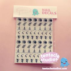 Game of Thrones Sigil Nail Decals Nail Art by TentacleStudios, $4.00
