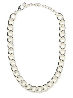 This ones a classic, and youre going to love it. Its a simple silver chain necklace, but the links are so audacious and chunky, no one is going to be able to take their eyes off.