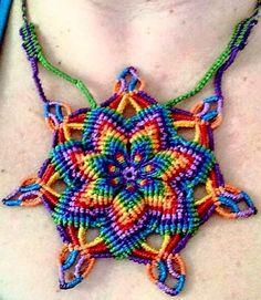 Chakra rainbow macrame mandala!! Rainbow warriors :) Made to order :)