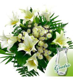 Weißer Blumenstrauß ist Symbol der Reinheit