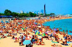 A Beach in Barcelona Spain