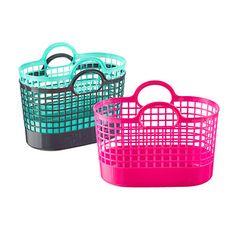 Plastic Bins & Baskets - Plastic Baskets & Storage Bins with Lids & Handles