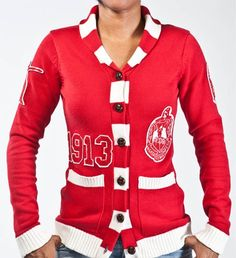 Delta Sigma Theta Sorority Inc. Holidays Stripes Sweater