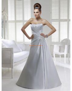 RONALD JOYCE Asymmetrische Modische Brautkleider aus Taft mit Perlenstickerei