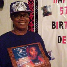 LIL SNUPE'S GRANDMOTHER ON HER BIRTHDAY.